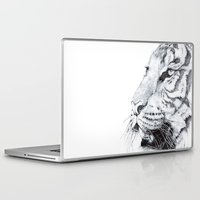 tiger Laptop & iPad Skins featuring Tiger by Kirsten Neil
