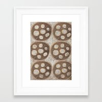 honeycomb Framed Art Prints featuring Honeycomb by Finn Wild