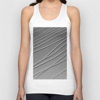 gray pattern Tank Tops featuring Relief - Gray by Rose Etiennette
