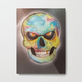 Mr. skull himself Metal Print