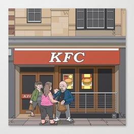 Oxford - Cornmarket Street Canvas Print