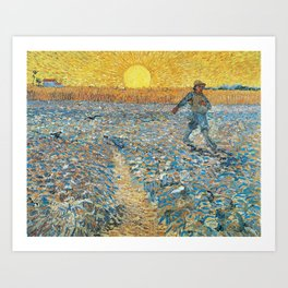 Van Gogh : The Sower (Sower with Setting Sun) Art Print