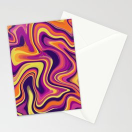 Sunset mixup - Digital Paint Push Stationery Cards