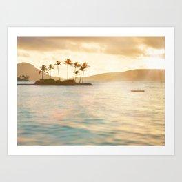 Oahu Golden Hour / Beach Photography Art Print