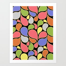 RAIN OF COLORS Art Print
