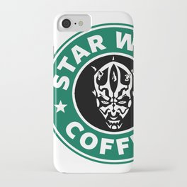 Star Wars Coffee (Darth Maul) iPhone Case
