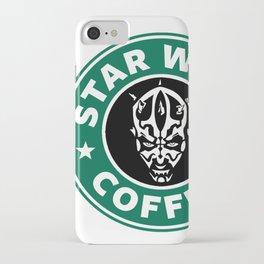 Star Wars Coffee (Darth Maul) iPhone Case