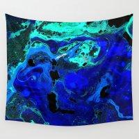atlas Wall Tapestries featuring Neptune's Atlas by Peta Herbert