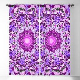 aurora mandala purple Blackout Curtain