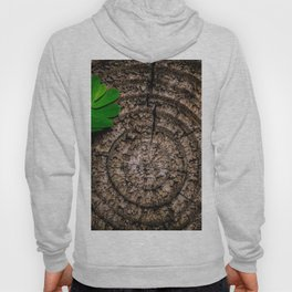 Abstract Leaf and Tree Trunk Hoody