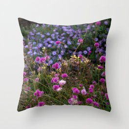 The Blue and the Violet Throw Pillow