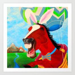 A Horserabbit for Archer Art Print