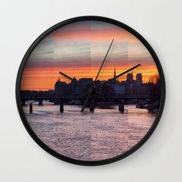 Sunrise over ile de la Cite - Paris Wall Clock