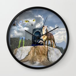 Horseplay For The Divine Wall Clock
