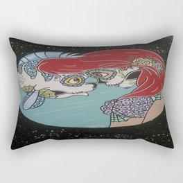 Ariel & Flounder Sugar Skull Rectangular Pillow