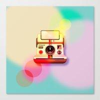 polaroid Canvas Prints featuring Polaroid by Tony Vazquez