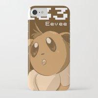eevee iPhone & iPod Cases featuring Pkmn #133: Eevee by Michelle Rakar