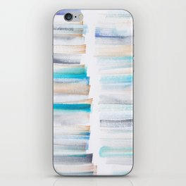 18  | 181101 Watercolour Palette Abstract Art | Lines | Stripes | iPhone Skin