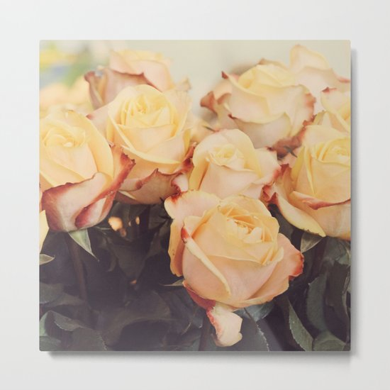 Light yellow roses Metal Print