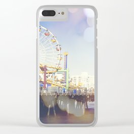 Santa Monica Bokeh Clear iPhone Case