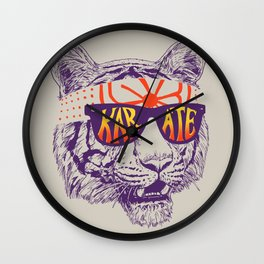 Karate Tiger Wall Clock