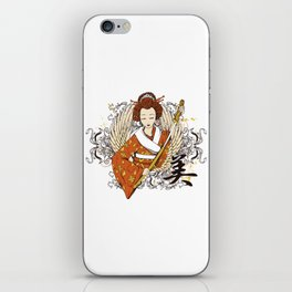 Geisha and Kanji iPhone Skin