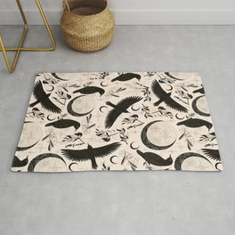 Raven Tarot Light Rug