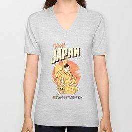 Visit Japan Unisex V-Neck