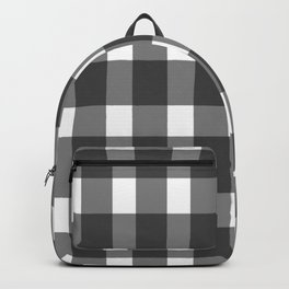 Black And White Gingham Backpack