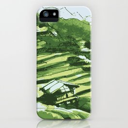 Terrace fields of Vietnam iPhone Case