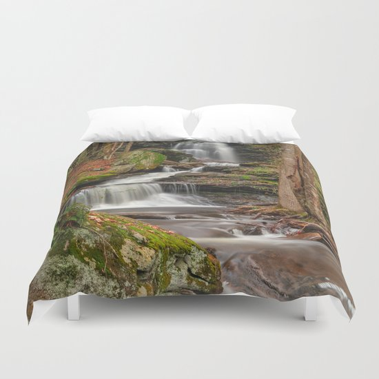 Ricketts Glen Waterfall Layers Duvet Cover