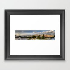 On The Israeli/Lebanon Border Panorama Framed Art Print