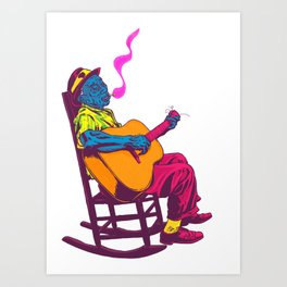 The Blues Art Print