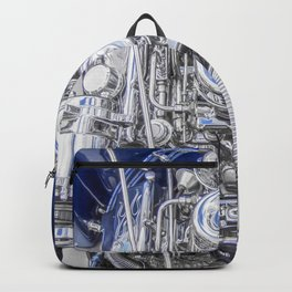 Hot Rod Blue, Automotive Art with Lots of Chrome by Murray Bolesta Backpack