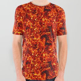 Fire for decorative products All Over Graphic Tee