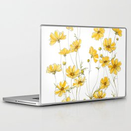 Yellow Cosmos Flowers Laptop & iPad Skin