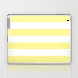 Simply Stripes in Pastel Yellow Laptop & iPad Skin
