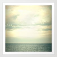 Grey seas Art Print