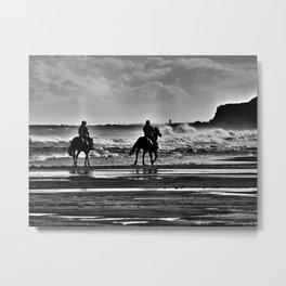Morning Ride Metal Print