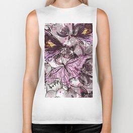 Butterflies and flowers Biker Tank