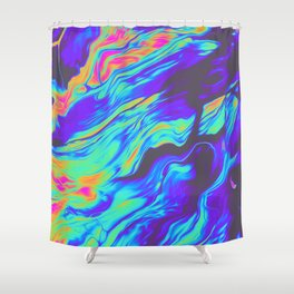 TALKING TO MYSELF AT NIGHT Shower Curtain