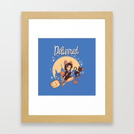 Delivered Framed Art Print