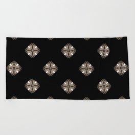 Simulated illuminated diamond pattern Beach Towel