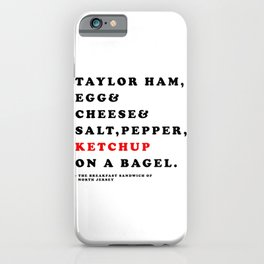 North Jersey Breakfast iPhone Case