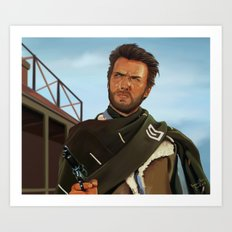 For a fistful of dollars Art Print