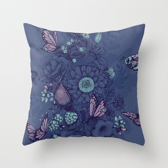 Beauty (eye of the beholder) - neon version Throw Pillow