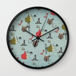 Equestrian Swatch Wall Clock