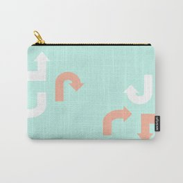Turquoise & Coral (3) Carry-All Pouch
