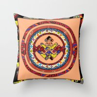 totem Throw Pillows featuring Totem by Robin Curtiss