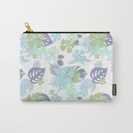 Tropical bouquet. Blue flowers. Carry-All Pouch